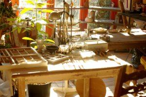 inside of a workshop