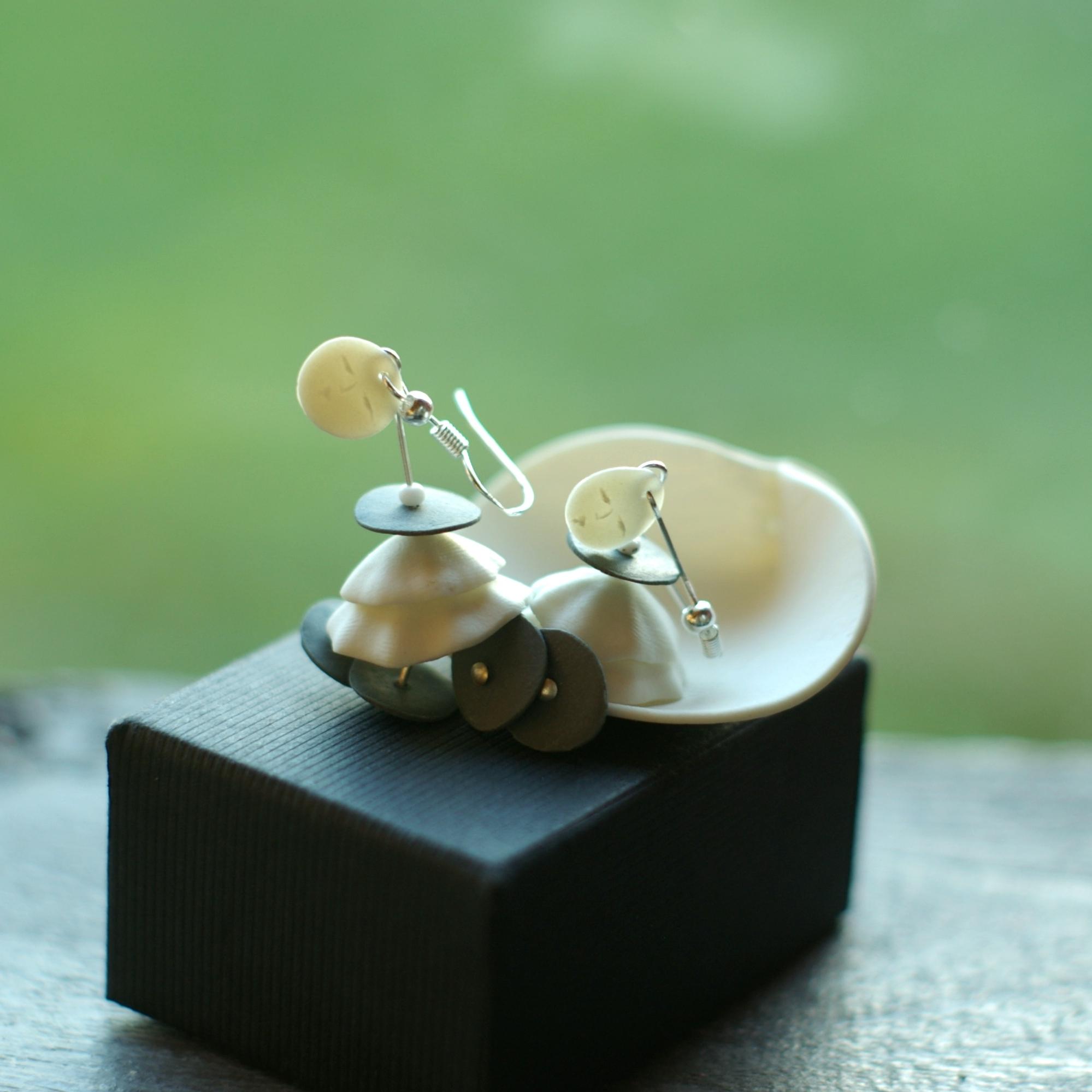 Some porcelain earrings